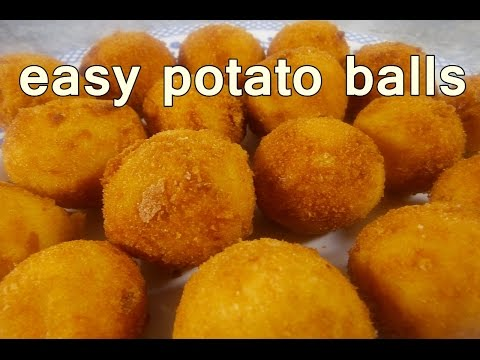Fried potato balls easy food recipes for dinner to make at home fried potato balls easy food recipes for dinner to make at home cooking for begginers forumfinder Images