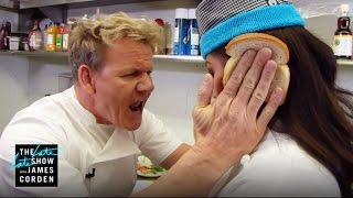 Hell's Cafeteria - Gordon Ramsay Grills Julie Chen & James