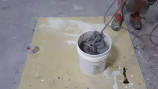 Mixing Color into Concrete Countertop Mix