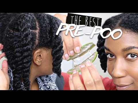 BEST Pre Poo Routine For Natural Hair - Aloe Vera | All Textures - Scalp to Ends