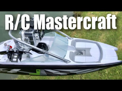 17″ R/C Radio Control Mastercraft Ski Boat by New Bright full review and test