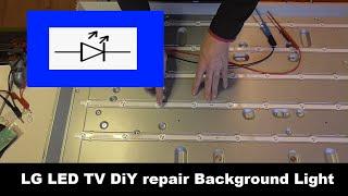 TV Repair Fernseher defekt Display Hintergrundbeleuchtung reparieren   LG Smart TV Backlight repair
