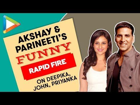 BLOCKBUSTER: Akshay Kumar & Parineeti Chopra's Rapid Fire On Deepika, John, Priyanka| Kesari