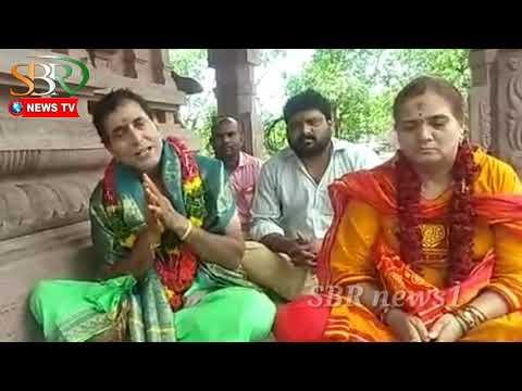 Alampur jogulamba temple in cine actor sathyaprakash SBR news1