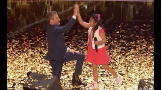 Little Angel Is On Fire with the GOLDEN BUZZER! | Judge Cut | America's Got Talent 2017