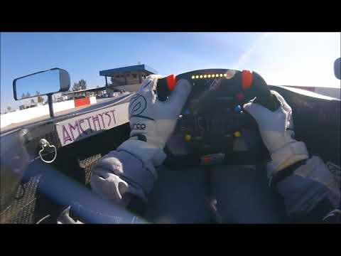 Dakota Dickerson Visor Cam from Buttonwillow Raceway Park Test