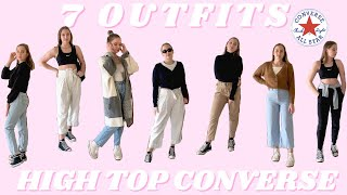 HOW TO STYLE CONVERSE   CHUCK TAYLOR HIGH TOPS