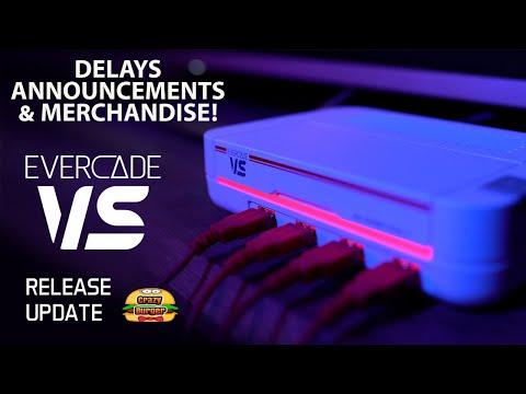 , title : 'EVERCADE VS - Release Delays, Announcements & Merchandise News!'