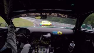 Mercedes-AMG GT3 chasing Audi R8 LMS GT3 at Nürburgring