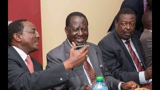 Raila Odinga, Kalonzo Musyoka and NASA leaders arrive for IEBC meeting