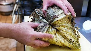 Japanese Street Food - GIANT ALIEN CLAM Sashimi Okinawa Seafood Japan
