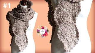 Wavy Crochet Lace Scarf Tutorial | Part 1