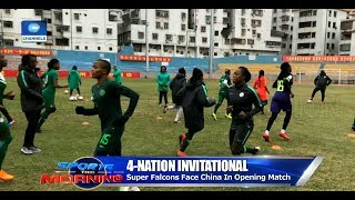Falcons Face China In Four-Nation Invitational Tournament Opener |Sports This Morning|