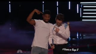 """NBC The Voice - """"Every Breath You Take"""" by Usher and Josh Kaufman"""