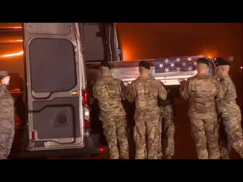 The body of North Ogden, Utah mayor and Army National Guard Major Brent Taylor arrived at Dover Air Force Base in Delaware before dawn, Tuesday. Taylor's widow said her husband died for the success of freedom and democracy. (Nov. 6)