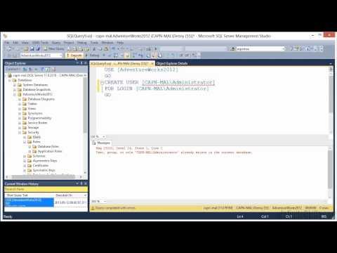 Microsoft SQL Server 70-462 Tutorial   Creating Database Users ...