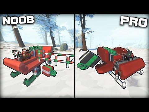 NOOB vs PRO Rocket Sleigh Present Delivery! (Scrap Mechanic Gameplay)