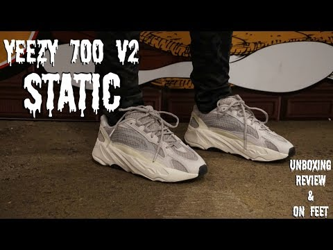 best sneakers 01fc9 cd95d Yeezy Boost 700 V2 Static Unboxing & Review - смотреть ...