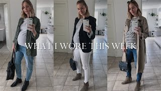 A Week In Minimal Maternity Outfits | Summer Capsule Wardrobe