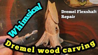 Dremel Wood Carving A Whimsical House. Dremel Fexshaft Repair