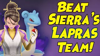 How to Beat New Sierra Shadow LAPRAS Team in Pokemon GO