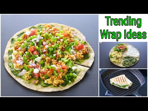 Two Trending Wrap Hack Recipes – Desi Version Trending Wraps – 100 % Whole Wheat | Skinny Recipes