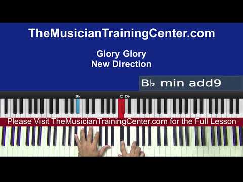 "Piano: How to Play ""Glory Glory"" by New Direction"