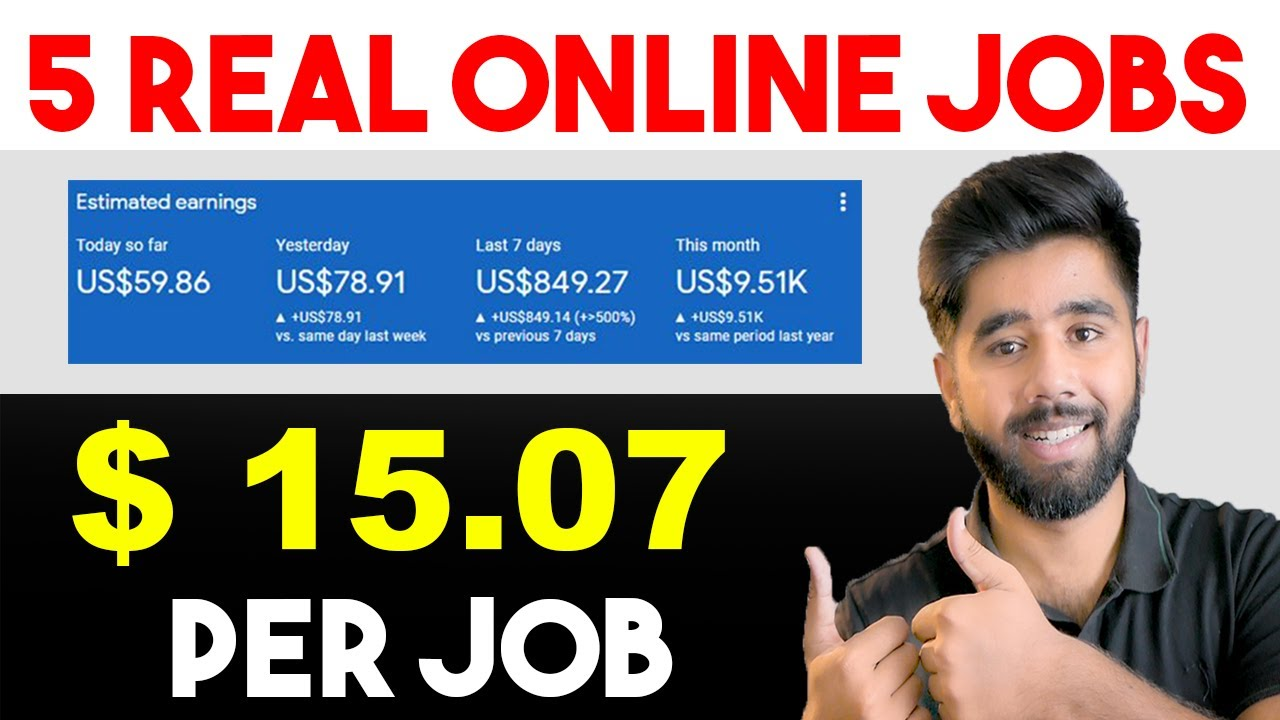 Leading 5 Online Jobs From House|Online Jobs for Trainees|Make Money From House|Part-time Jobs 2021 thumbnail