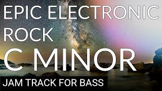 Bassless Backing Track Epic Electronic Rock in C Minor (Cm)