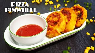 Pizza Pinwheels Recipe with Oven and without Oven || Pizza Roll || Snacks Recipe