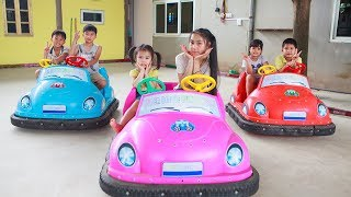 Kids Go To School | Chuns With Best Friends Play In Game Park The Children