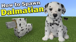 How To Spawn A DALMATIAN | Minecraft PE