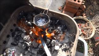 Easy Metal Forge at Home - Melt Aluminum - Bend Steel - Blacksmithing