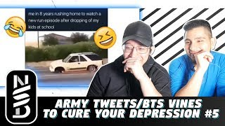 GUYS REACT TO ARMY Tweets/BTS vines to cure your depression #5