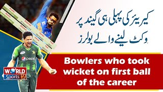 Wicket On First Ball On Debut | Best Bowling Spell | Top 10 Bowlers