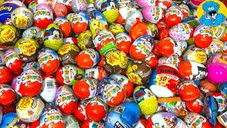 Киндер Сюрпризы,Unboxing Kinder Surprise Eggs Мстители 4,Три Кота,Барби,Машинки New Toys Collection