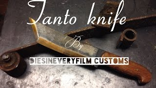 Making A Tanto Fighting Knife From Spring Steel