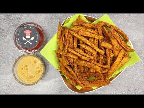 Knusprige Süßkartoffelpommes | Frittierte Süßkartoffeln | Kikis Kitchen