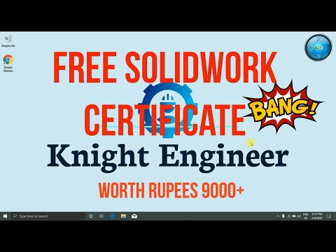 SOLIDWORK FREE CERTIFICATE (CSWA)|| WORTH ... - YouTube