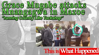 Grace Mugabe Attacks Mnangagwa in Mazoe, What Happened?