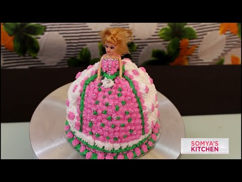 Video Perfect Homemade Eggless Strawberry Doll Cake Recipe in Hindi For Beginners Tutorial/birthday party