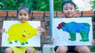 Trò Chơi Tiết Học Mĩ Thuật - Tô Màu Con Vật - Bé Nhím TV - Đồ Chơi Trẻ Em Thiếu Nhi