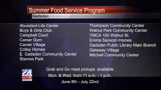 City of Gadsden's Summer Food Service Program