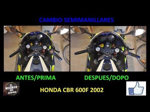 cambio semimanubri CBR 600F 2002