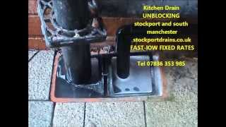 preview picture of video 'Unblocking kitchen drains stockport Blocked kitchen drain stockport'