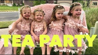 THE GIRLS ATTEND A TEA PARTY BIRTHDAY