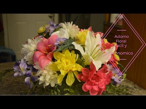 Adorno Floral fácil y económico