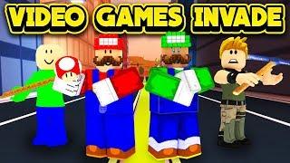 VIDEO GAMES INVADE JAILBREAK! (ROBLOX Jailbreak)