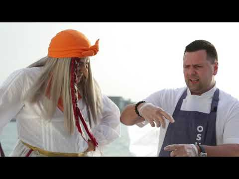 Battle of chefs in Dubai-part 2, Sea Food on a yacht! `OSH` VS `Chalet Berezka`