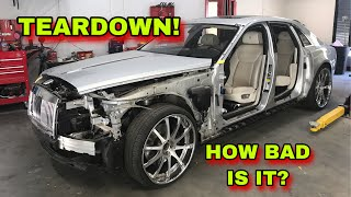 REBUILDING A WRECKED ROLLS ROYCE GHOST MANSORY PART 1